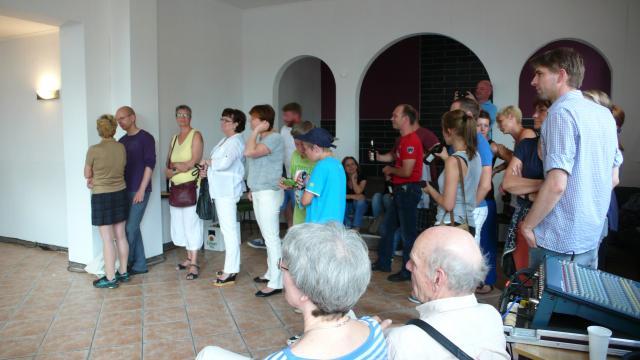 Besucher des Konzerts