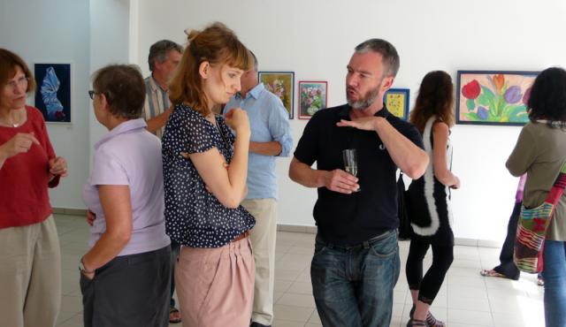 Lea Kontak im Gespräch mit Gerrit Gohlke