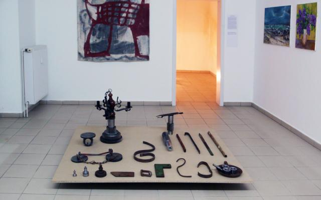 Installation und Wandbild von Jost Löber, Bilder von Kerstin Kurtz