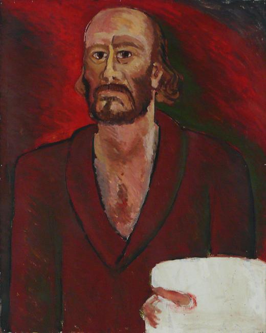Götz Schallenberg, Selbstbildnis, 1983